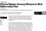 """无极注册1960_鸿海、纬创等苹果代工厂或成印度制造计划最大""""赢家"""""""